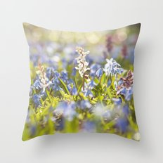 Spring Flower Meadow Throw Pillow