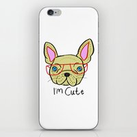 I'm Cute French Bulldog iPhone & iPod Skin