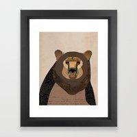Bear Collage Framed Art Print