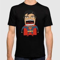 Screaming Superdude Mens Fitted Tee Black SMALL