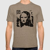 QR- Monalisa Mens Fitted Tee Tri-Coffee SMALL