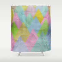 Acid Mountains Shower Curtain