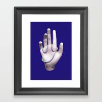 Face Palm Framed Art Print
