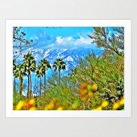 Californian Landscape Art Print