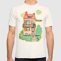 Welcome Home Mens Fitted Tee Natural SMALL