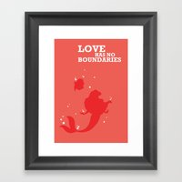 Love Has No Boundaries Framed Art Print