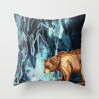 BearCave Throw Pillow