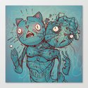 Bipolar Cats Canvas Print