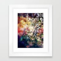 the Tree of Many Colors Framed Art Print