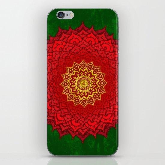 okshirahm rose mandala iPhone & iPod Skin