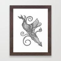 Whale Vs. Squid Framed Art Print