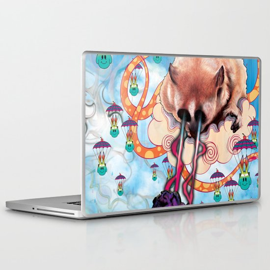 Attack of the Super Furry Animals! Laptop & iPad Skin