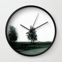 Blurry Trees Wall Clock