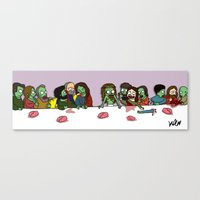 Zombie supper Canvas Print
