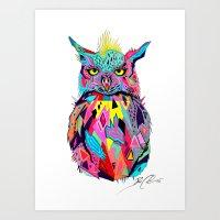 -Abstract Owl- Art Print