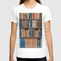 Antique first edition book Collection Womens Fitted Tee White SMALL