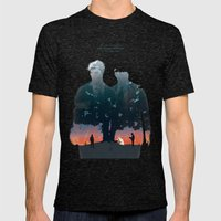 True Detective - The Long Bright Dark Mens Fitted Tee Tri-Black SMALL