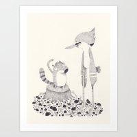 Regular Show Art Print