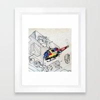 Heli Framed Art Print