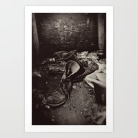 Decaying Boots Art Print
