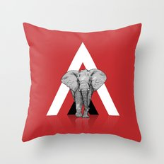 Because I Can't Forget - RED Throw Pillow