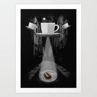 Mr. Coffee Bean Art Print