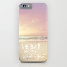 the beach is my happy place iPhone 6s Slim Case