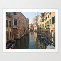 Venetian Waterway Art Print