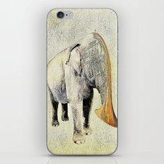 the elephant musician iPhone & iPod Skin