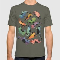 12 cats Mens Fitted Tee Lieutenant SMALL