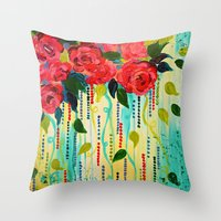 ROSE RAGE Stunning Summe… Throw Pillow