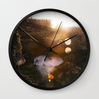 Frozen Puddle Wall Clock
