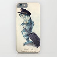 tree iPhone & iPod Cases featuring The Pilot by Eric Fan