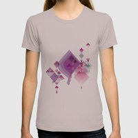 Abstract Illustrations Womens Fitted Tee Cinder SMALL