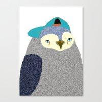 Penguin Dude, penguin art, penguin illustration, penguin, penguin print,  Canvas Print