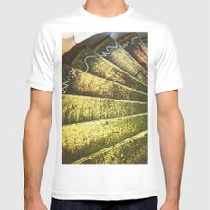 The Artist's Staircase White Mens Fitted Tee SMALL