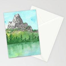 Geometric Mountain 3 Stationery Cards