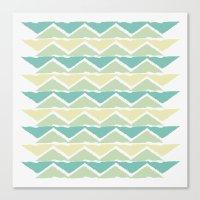 Ocean Triangles Canvas Print