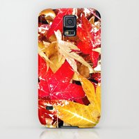 Galaxy S5 Cases featuring Fall Leaves by Regan's World