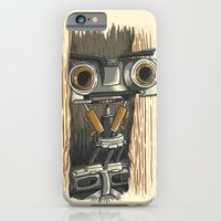 iPhone Cases featuring Here's Johnny 5! by WanderingBert / David Creighton-Pester