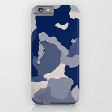 Blue Camo abstract iPhone 6s Slim Case