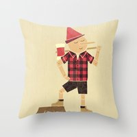 Wrong Guy For The Job Throw Pillow
