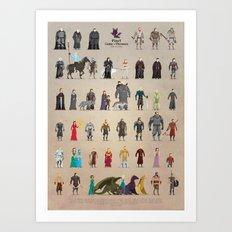 The Pixel Game of Pixel Thrones Art Print