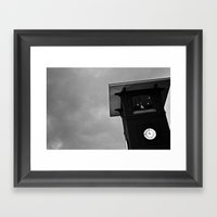 B&W Clock Tower Framed Art Print