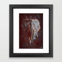 DARK ELEPHANT Framed Art Print