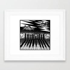 descending of night at the factory Framed Art Print