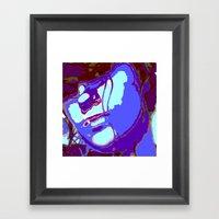 Blue Lagoon Geisha  Framed Art Print
