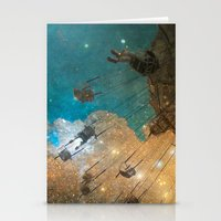 Stationery Card featuring Swing Me To The Moon by The Strange Days Of Gothicolors