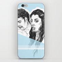 Pale Blue iPhone & iPod Skin