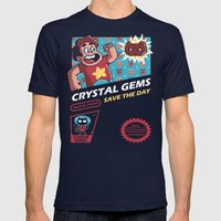 Crystal Gems Mens Fitted Tee Navy SMALL